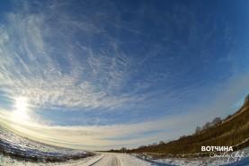 Необычные облака в небе над Вотчиной