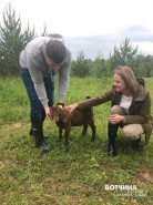 Общение с животными - заряд хорошего настроения! Хозяева минизоопарка на одном из участков с удовольствием принимают гостей!