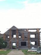 Грандиозная стройка на участке 39 - сразу два больших бревенчатых дома!